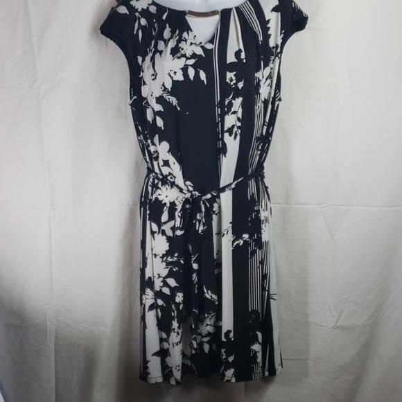 Luxology dress nwot black white sz 14